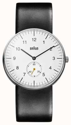 Braun Mens wit zwart horloge ex-display BN0024WHBKG Ex-Display