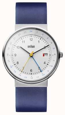 Braun Unisex klassieke dubbele tijd horloge BN0142WHBLG
