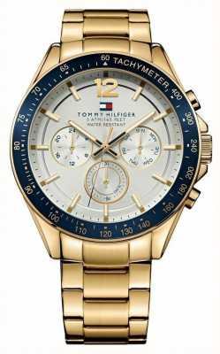 Tommy Hilfiger Mens luke goudkleurig horloge 1791121