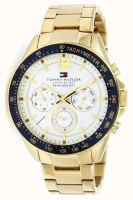 Tommy Hilfiger Luke herenhorloge in goudkleur | gouden metalen band | 1791121