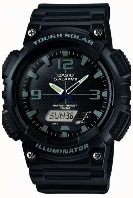 Casio Mens vijf alarm op zonne-energie verlichting zwart AQ-S810W-1A2VEF