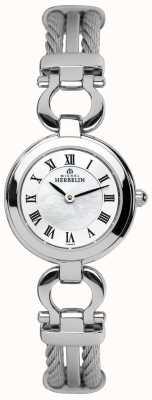 Michel Herbelin Staalkabel dames armband horloge 17422/B29