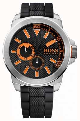 Hugo Boss Orange Gents roestvrij staal, zwarte rubberen band 1513011