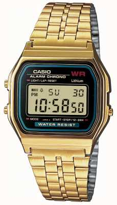 Casio Gents digitale retro vergulde A159WGEA-1EF