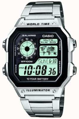 Casio Digitale multifunctionele wereld timer kwarts AE-1200WHD-1AVEF