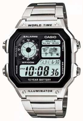 Casio Digitaal multifunctioneel wereldtimer kwarts AE-1200WHD-1AVEF