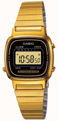 Casio Womens digitale armband retro verguld LA670WEGA-1EF
