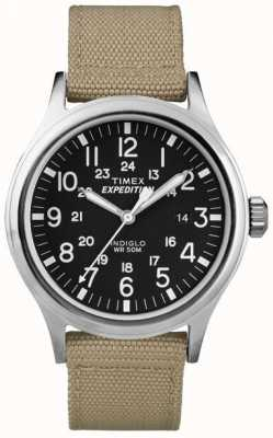 Timex Mens Black expeditie scout horloge T49962