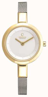 Obaku Vrouwen mager roestvrij staal mesh pvd case V129LXGIMC