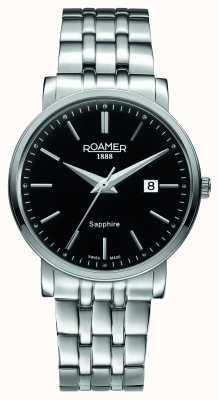 Roamer Klassieke lijn | roestvrijstalen armband | zwarte wijzerplaat 709856 41 55 70