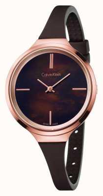 Calvin Klein Dames levendige bruine rubberen band K4U236FK
