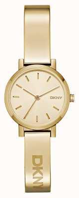DKNY Dames soho pvd gouden plaat ronde wijzerplaat NY2307