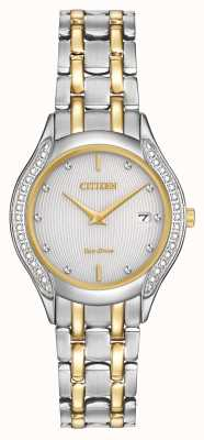 Citizen Ladies eco-rijden 30 diamond two tone GA1064-56A