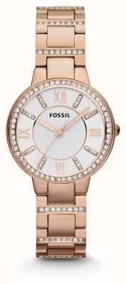 Fossil Womens Virginia Rose Gold pvd verguld ES3284