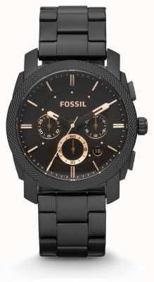 Fossil Gents machine zwarte pvd verguld FS4682