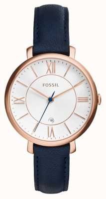 Fossil Womens jacqueline rose goud pvd leer ES3843