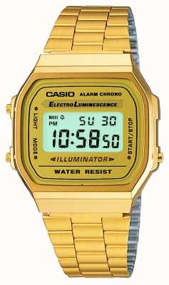 Casio Unisex vergulde retro digitale collectie A168WG-9EF