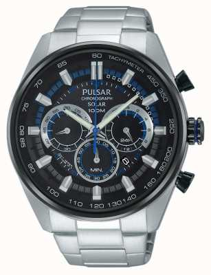 Pulsar Mens wrc chronograaf zonne roestvrij staal PX5019X1