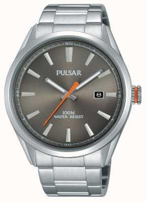 Pulsar Heren roestvrij staal zilverkleurige wijzerplaat PS9381X1