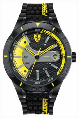 Scuderia Ferrari Red rev evo zwarte silicone zwart geel wijzerplaat 0830266