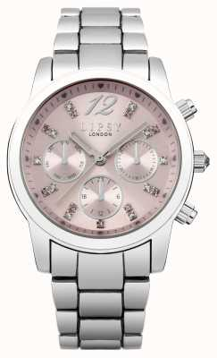 Lipsy Vrouwen roestvrij stalen armband roze wijzerplaat LP390