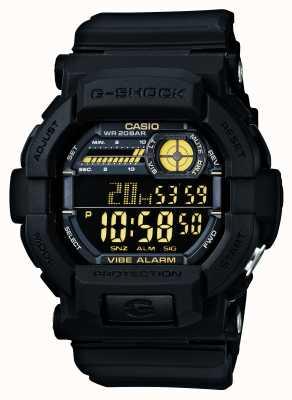 Casio G-shock vibrerend 5 alarm horloge zwart geel GD-350-1BER