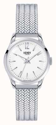 Henry London Edgware roestvrijstalen mesh witte wijzerplaat HL25-M-0013