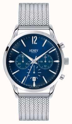 Henry London Knightsbridge roestvrijstalen gaas chrono HL41-CM-0037
