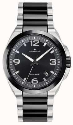 Junghans Spektrum automatisch | zwart / zilver roestvrij stalen band | 027/1500.44