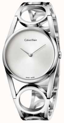 Calvin Klein Vrouwen round roestvrij staal zilveren wijzerplaat K5U2S146