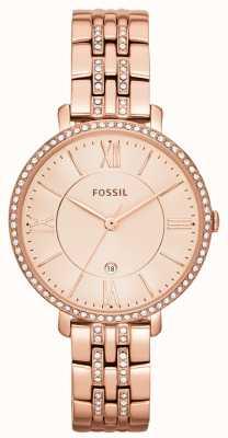 Fossil Womens jacqueline rose goud pvd steen set ES3546