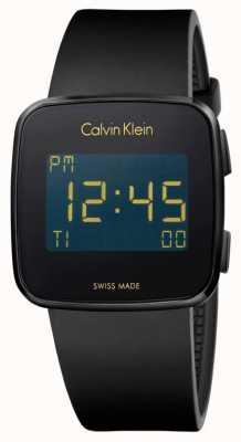 Calvin Klein Unisex toekomstige digitale zwarte rubberen band K5C214D1