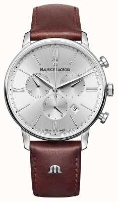 Maurice Lacroix Eliros datum lederen band chronograaf EL1098-SS001-110-1