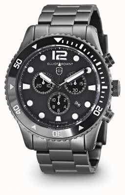 Elliot Brown Mens Bloxworth gun metal plated zwarte wijzerplaat 929-001-B05