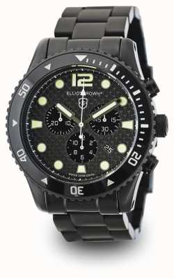 Elliot Brown Mens Bloxworth zwarte PVD plated carbon wijzerplaat 929-002-B03