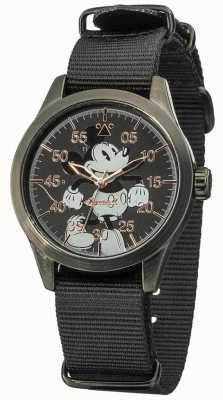Disney By Ingersoll Mickey mouse horloge met zwarte nylon band DIN008BKBK