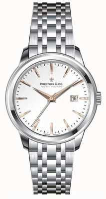 Dreyfuss Vrouwen roestvrij stalen armband zilveren wijzerplaat DLB00125/06