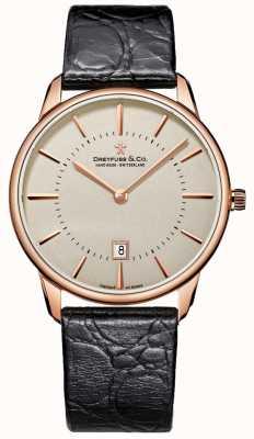 Dreyfuss Heren zwart lederen horloge DGS00139/46