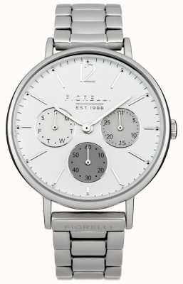 Fiorelli Vrouwen zilveren armband witte wijzerplaat FO002SM