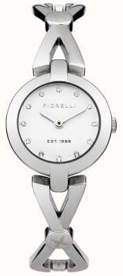 Fiorelli Vrouwen zilveren armband witte wijzerplaat FO003SM