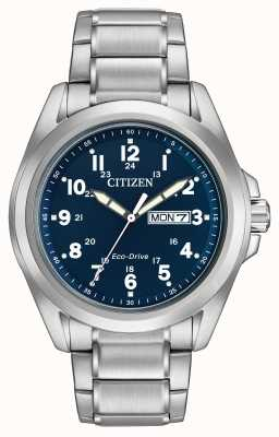 Citizen Gents Eco-Drive Blue Dial sport armband AW0050-58L