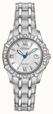 Citizen Eco-aandrijving 28 diamanten roestvrij staal EW2360-51A