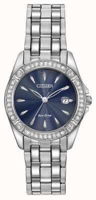 Citizen Womens Eco-Drive silhouet crystal case EW2350-54L