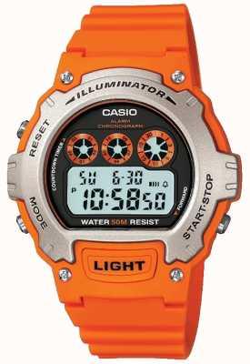 Casio Sportalarm unisex verlichter chronograaf W-214H-4AVEF