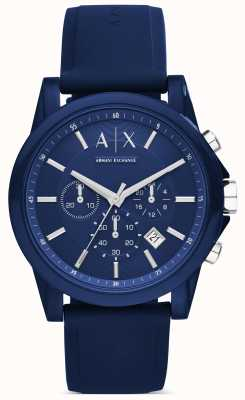 Armani Exchange Chronograph blauw siliconen AX1327