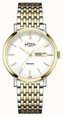 Rotary Mens two tone vergulde GB05301/01