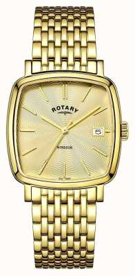Rotary Heren windsor goud pvd verguld GB05308/03