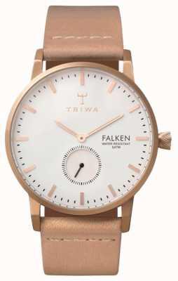 Triwa Unisex wit leer wijzerplaat band steeg Falken FAST101-CL010614