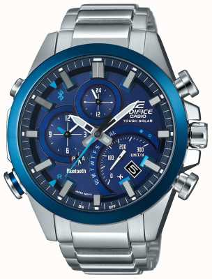 Casio Edifice Bluetooth Sync Tough Solar Smartwatch Blue EQB-501DB-2AMER