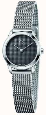 Calvin Klein Vrouwen minimale grijze wijzerplaat K3M2312X